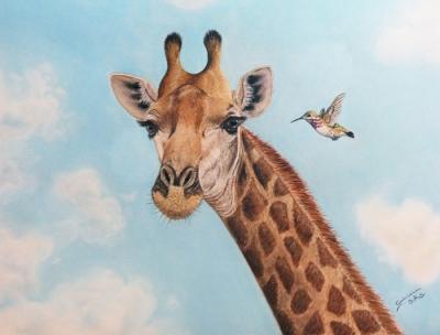 Jirafa, Gabriela del Olmo, Animal Portrait Artist