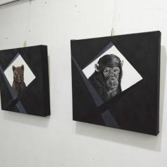 chimpance-oso-pardo-oleo-pinturas-animalistas-pintora-gabriela-del-olmo-animal-portrait-artist-retratos-animales-cuadros-animales-hiperrealismo-exposicion-pintura-respeto-concienciacion