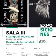 Cartel-Sala-III-gabriela-del-olmo-riera-exposicio-conjunta-madrid-mostrando-la-realidad-carlos-molina-alonso-arte-digital-animales-cuadros-respeto-concienciacion